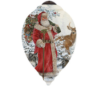 Limited Edition Woodland Santa Ornament  by Ne'Qwa - H286785