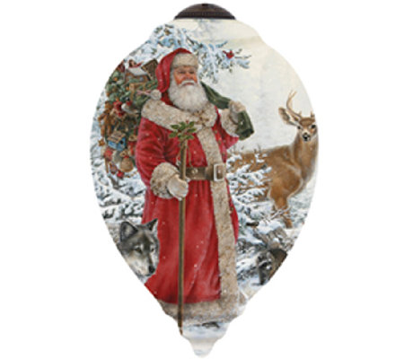 Limited Edition Woodland Santa Ornament  by Ne'Qwa