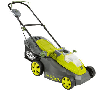 "Sun Joe 40-Volt Cordless 16"" Lawn Mower with Brushless Motor - H286985"