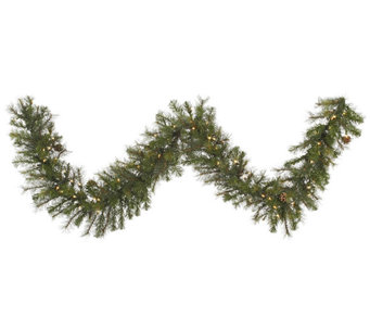 9' Prelit Modesto Mixed Pine Garland by Vickerman - H287685