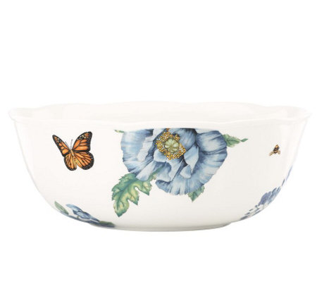Lenox Butterfly Meadow Blue Serving Bowl