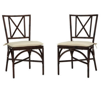 Home Styles Outdoor Bimini Jim Set of 2 DiningChair w Cushion - H367885