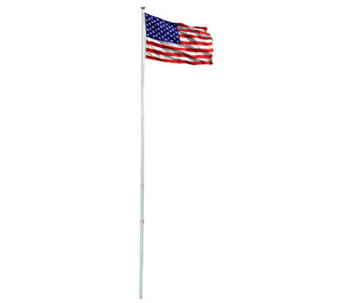 Annin Patriot Aluminum Flag Pole Kit w/ 3' x 5'Nylon US Flag - H368285
