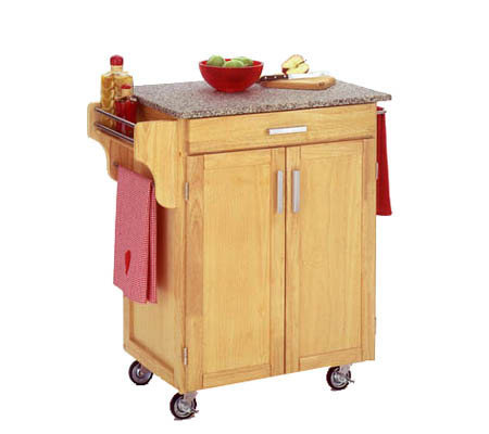 Home Styles Cuisine Cart Natural Finish with Grite Top