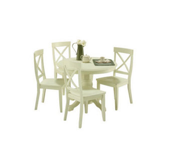Home Styles Round Pedestal Dining Table -  WhitFinish - H132486
