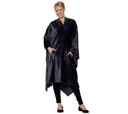 "Throwbee Ultrasoft 55"" x 80"" Convertible Throw & Poncho"