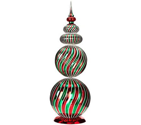 "29"" Oversized Swirl Design Finial by Valerie"