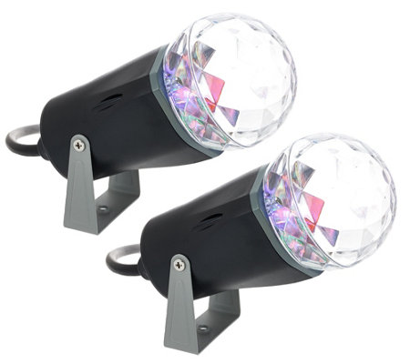 """As Is"" Set of 2 Indoor Outdoor LED Kaleidoscope Projectors"