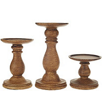 Set of 3 Graduated Candle Holder Pedestals by Valerie - H207986