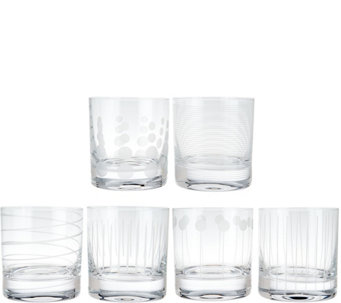 Cheers Set of 6 Double Old-Fashioned Glasses by Mikasa - H209986