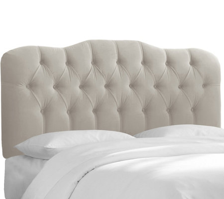 Skyline Furniture Twin Tufted Headboard in Velvet