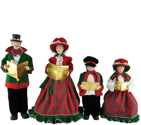 "Set of 4 15"" to 19"" Christmas Day Carolers by Santa's Workshop"