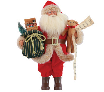 "15"" Old Fashioned Toy Delivery Santa by Santa'sWorkshop - H290086"