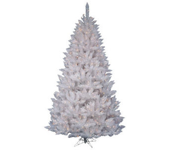 7-1/2' White Sparkle Spruce Tree w/ Dura-Lit Lights - H364086