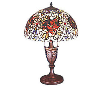 "Tiffany Style 24""H Renaissance Rose Lamp - H61386"