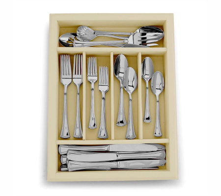 Lenox Butleru0027s Pantry Flatware 45 Pc Set W/Ivory Colored Caddy
