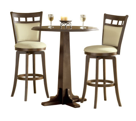 Hillsdale Furniture Dynamic Designs 3-Pc Pub Set-Brown Cherry