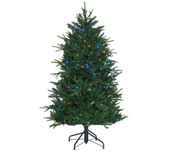 Santa's Best 5' Heritage Spruce Tree with 7 Function LED Lights - H205687