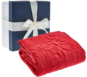 "50""x70"" Velvety Quilted Throw with Gift Box by Valerie - H206587"