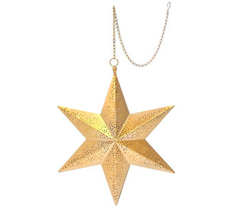 ED On Air Illuminated Punched Metal Hanging Star by Ellen DeGeneres - H207287