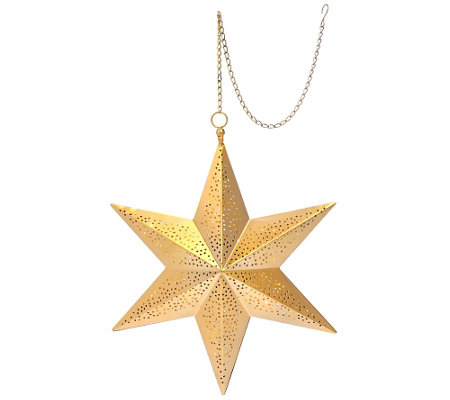 ED On Air Illuminated Punched Metal Hanging Star by Ellen DeGeneres