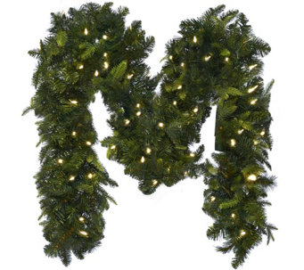 Bethlehem Lights 9' Mixed Greens Prelit Holiday Garland - H208787
