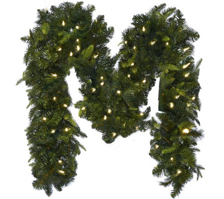Bethlehem Lights 9' Mixed Greens Prelit Holiday Garland