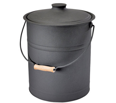 Plow & Hearth Double-Bottom Galvanized Steel Ash Bucket