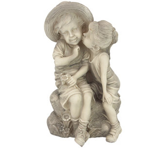 Design Toscano Kissing Kids Boy and Girl Statue - H287887