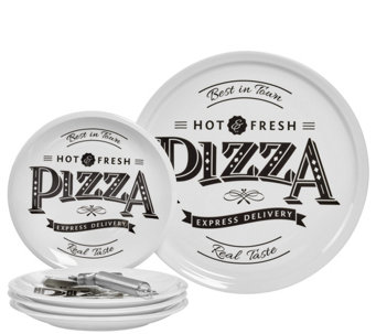 Tabletops Gallery 6-Piece Best in Town Pizza Set - H289187