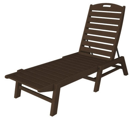 POLYWOOD Nautical Chaise Lounge Without Arms