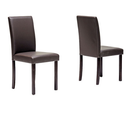 Set of 2 Susan Brown Modern Dining Chairs