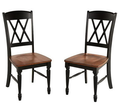 Home Styles Set of 2 Monarch Dining Chairs