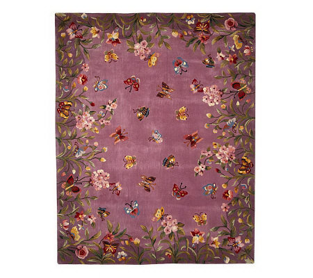 Royal Palace Butterfly Harmony 7 X 9 Handmade Wool Rug