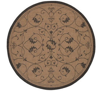 "Couristan Recife Veranda Indoor/Outdoor 7'6""Diam Round Rug - H175088"