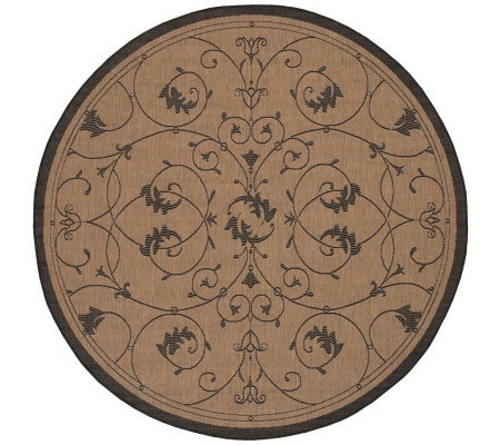 "Couristan Recife Veranda Indoor/Outdoor 7'6""Diam Round Rug"