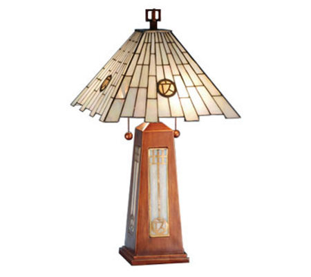 "Tiffany Style 25-1/2""H Pendulum Accent Lamp"