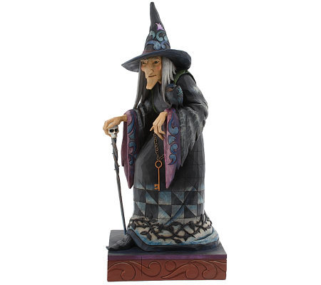"Jim Shore Heartwood Creek 23"" Halloween Witch Statue w/ Hat,Cape, &Cane"