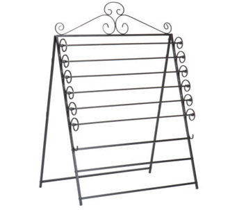 Nolan Easel/Wall Mount Craft Storage Rack Black - H187288