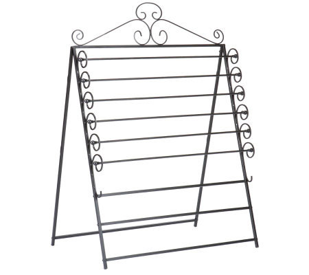 Nolan Easel/Wall Mount Craft Storage Rack Black