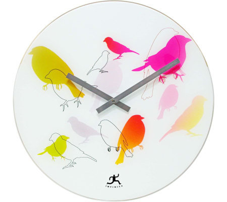 "Early Bird - 15.75"" Glass Wall Clock"