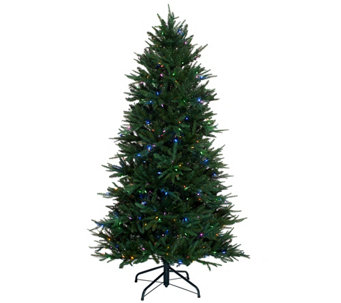 Santa's Best 6.5' Heritage Spruce Tree with 7 Function LED Lights - H205688