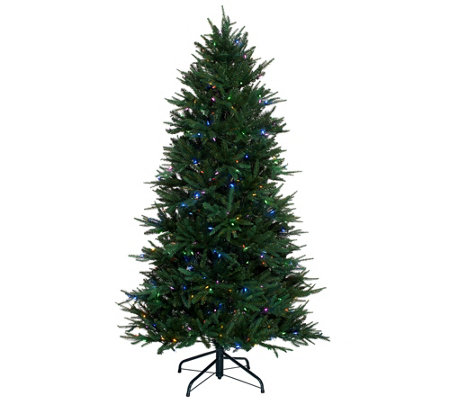 Santa's Best 6.5' Heritage Spruce Tree with 7 Function LED Lights