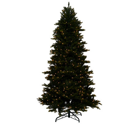"""As Is"" Bethlehem Lights 7.5' Noble Spruce Tree Swift Lock"