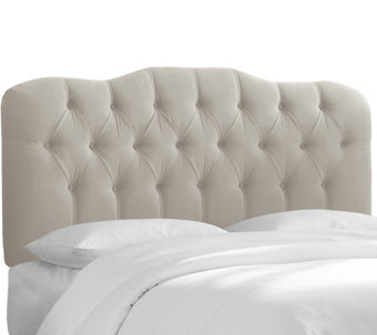 Full Tufted Headboard in Velvet by Valerie - H284688