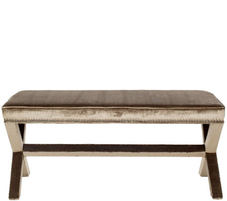 Melanie Extended Bench with Nailhead Details bySafavieh