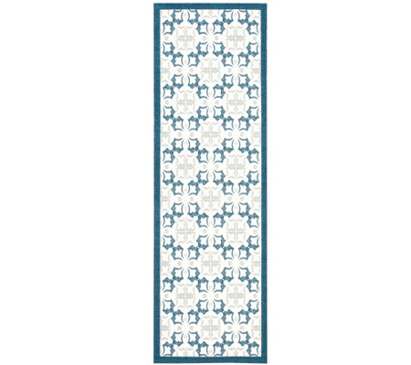 "Enhance Geometric 2'6"" x 8' Rug by Nourison"