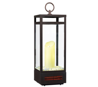Duraflame Electric Flameless Candle Infrared Heater Lantern - H290088