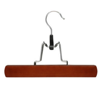 Honey-Can-Do 16-Pk Cherry Finish Wood Clamp Skirt/Pant Hanger - H356688