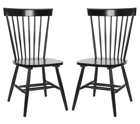 Parker Malaysian Oak Accent Chairs - Set of Two